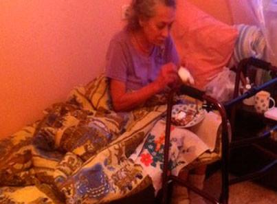 Жительница дома престарелых «Твой дом»