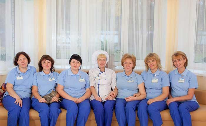Персонал дома престарелых «Забота»