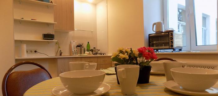 Кухня в пансионате «Колибри»