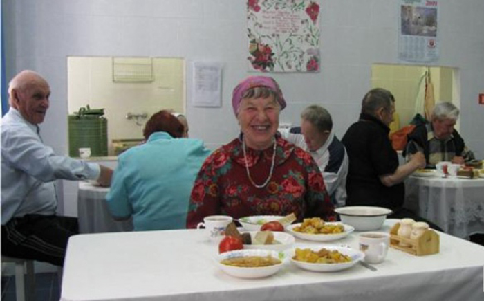 Столовая в Бердском пансионате ветеранов труда