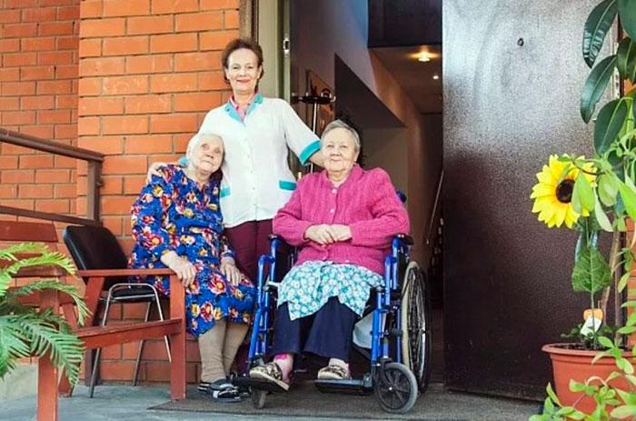 Заботливый персонал в доме престарелых «Доброта» в Домодедово