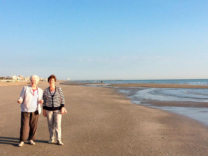 На пляже в Италии
