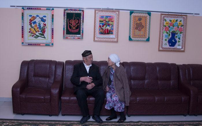 Постояльцы Алматинского дома ветеранов