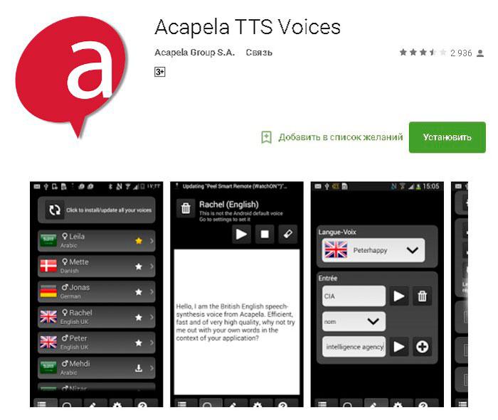 Acapela TTS Voices