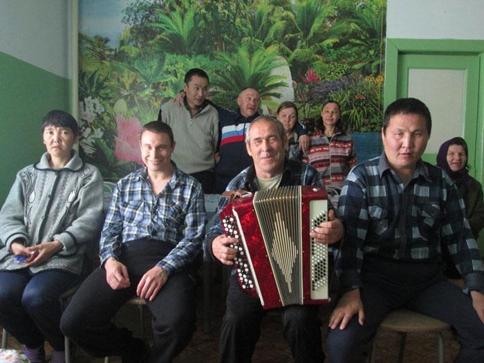 Досуг жильцов Баргузинского психоневрологического интерната