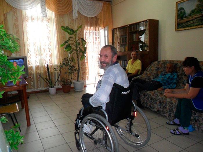 Постояльцы Чулымского специального дома-интерната для престарелых