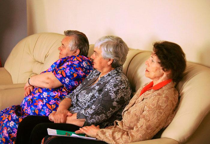 Жители Каширского дома-интерната для престарелых и инвалидов