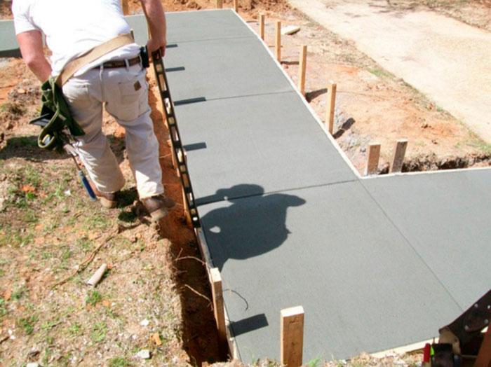 Заливка бетонного пандуса