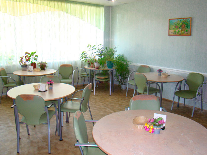 Столовая в Рязанском геронтологическом центре