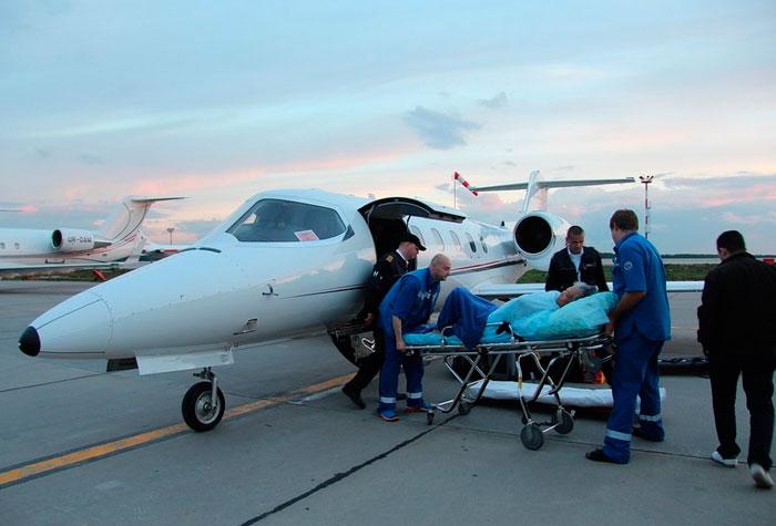 Перевозка больных воздушным транспортом