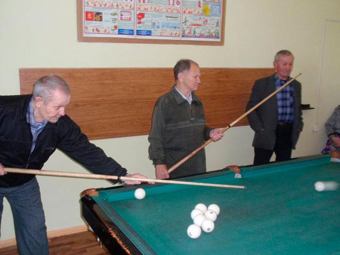 Бильярд в Заиграевском доме-интернате для престарелых и инвалидов