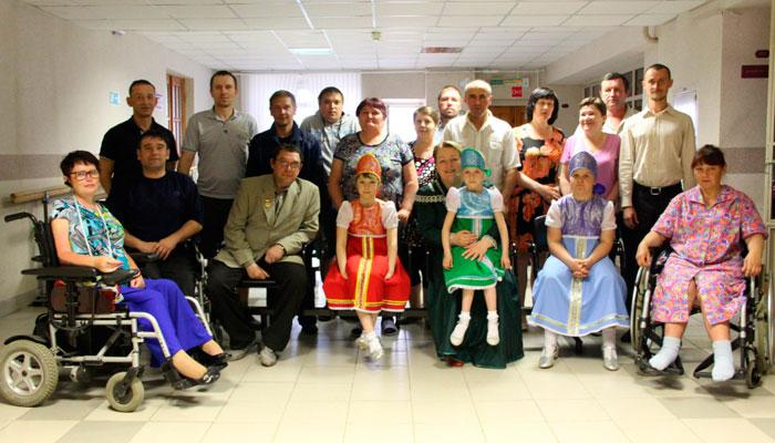 Постояльцы Реабилитационного центра для инвалидов молодого возраста