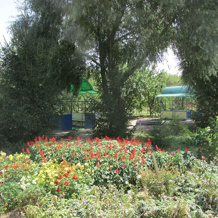 Территория пансионата