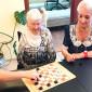 Игра в настольные игра жильцов пансионата «Поколение» Подушкино