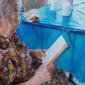 Чтение жильцов дома престарелых «Оберег»
