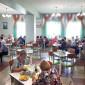 Обед жильцов пансионата для престарелых и инвалидов «Приозерье»