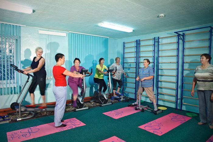 Спортзал пансионата для престарелых и инвалидов «Приозерье»