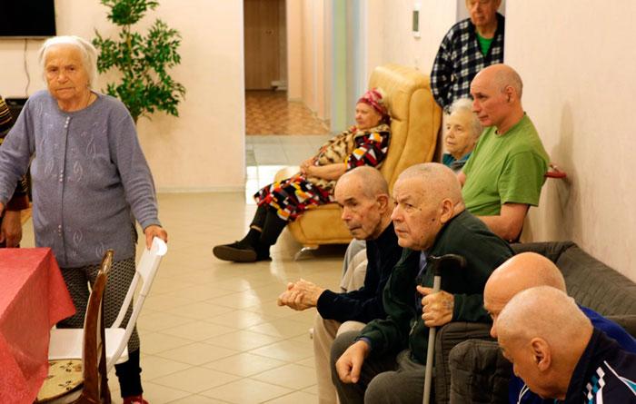 Жильцы пансионата для пожилых «Забота о близких» Дмитров