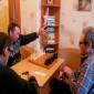 Игра в домино жителей интинского дома-интерната для престарелых и инвалидов