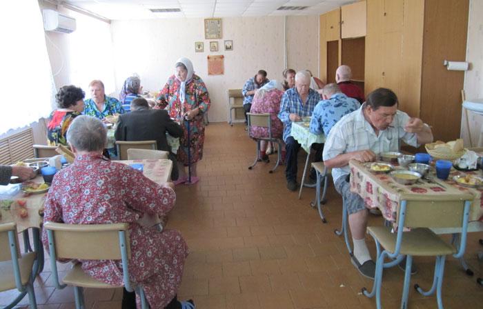 Столовая Исаклинского пансионата милосердия для ветеранов войны