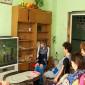 Просмотр телевизора жильцами Изобильненского психоневрологического интерната