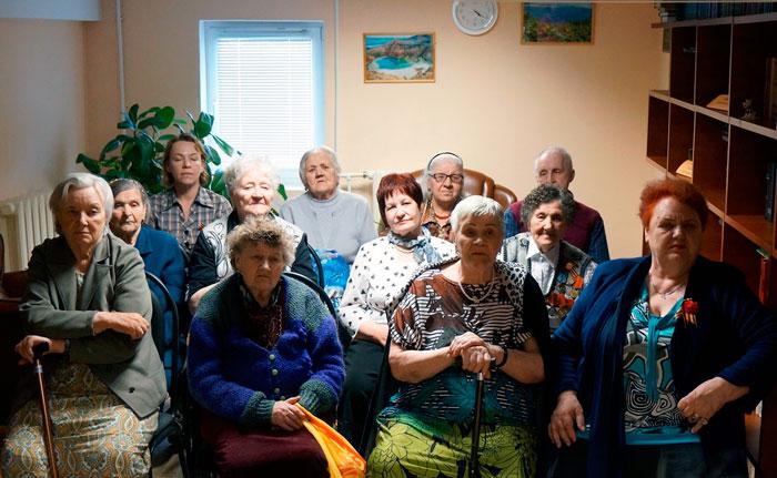 Жильцы Камчатского специального дома ветеранов