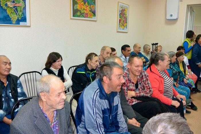 Постояльцы Касимовского специального дома-интерната для престарелых