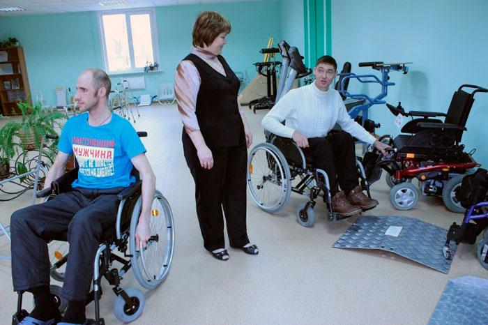 Жильцы Хабаровского центра социальной реабилитации инвалидов