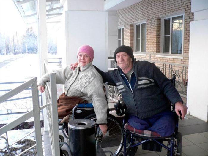 Жильцы Климовского дома-интерната для престарелых и инвалидов