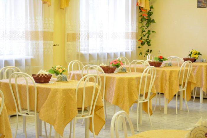 Столовая Коломенского дома-интерната «Ветеран»