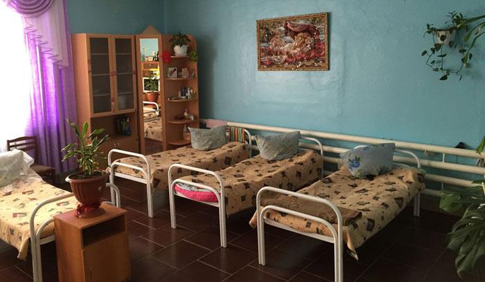 Комната постояльцев Краснотурьинского психоневрологического интерната