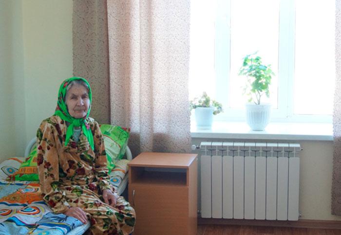 Постояльцы Мамадышского специального дома-интерната для престарелых