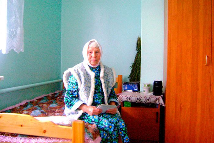 Постояльцы Мосальского дома-интерната для престарелых и инвалидов