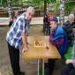 Игра в шахматы постояльцев Октябрьского дома-интерната для престарелых и инвалидов
