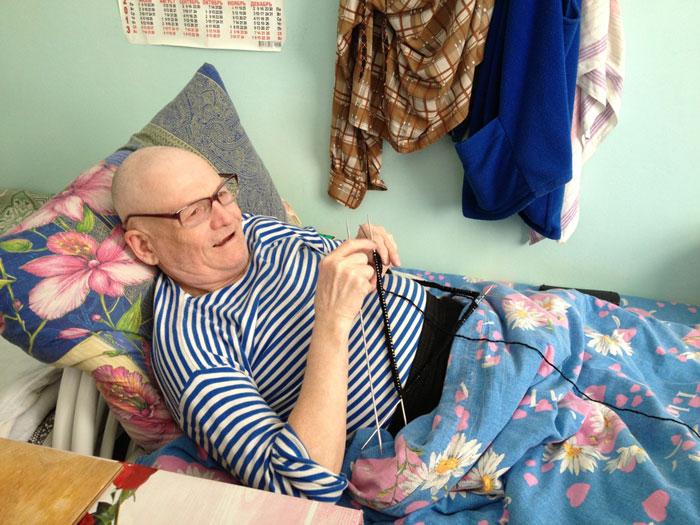 Жильцы Соликамского дома-интерната для престарелых и инвалидов