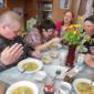 Обед жителей Соликамского дома-интерната для престарелых и инвалидов