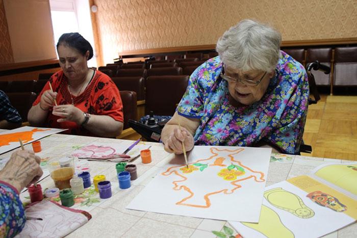 Досуг постояльцев Тентюковского дома-интерната для престарелых и инвалидов