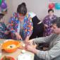 Постояльцы Усинского дома-интерната для престарелых и инвалидов