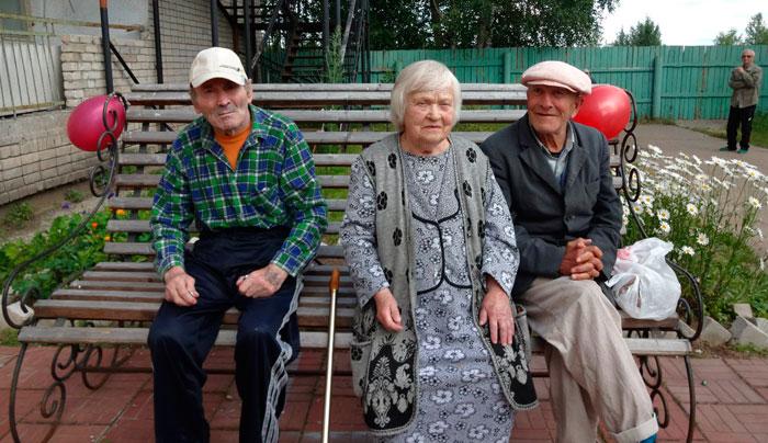 Жильцы Усогорского дома-интерната для престарелых и инвалидов