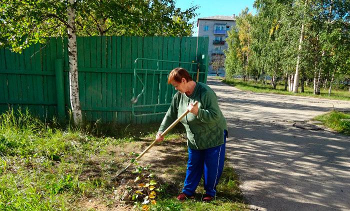Трудотерапия постояльцев Усогорского дома-интерната для престарелых и инвалидов