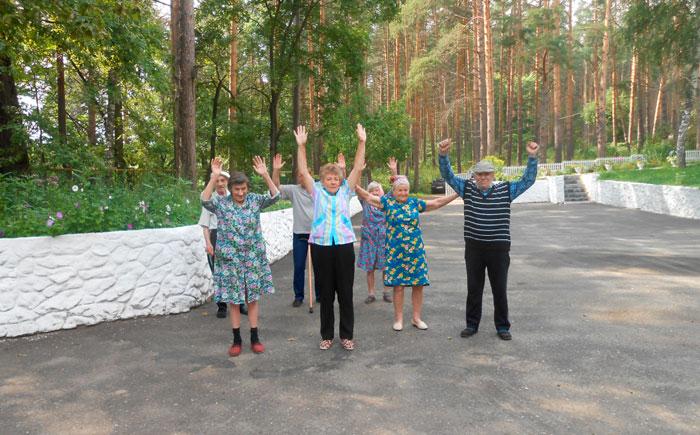 ЛФК жильцов Заречнского дома-интерната для престарелых