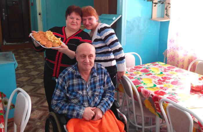 Обед постояльцев Богучанского дома-интерната