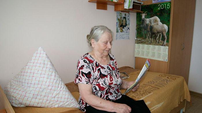 Комната дома-интерната для престарелых и инвалидов «Уют»