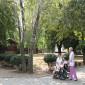 Прогулка жильцов пансионата для пожилых людей «Берегиня»