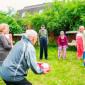 Спортивные игры жильцов пансионата «Старость-радость»