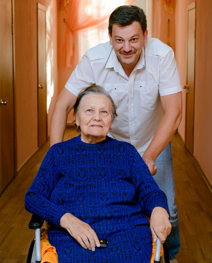 Жильцы пансионата для пожилых в Балашихе