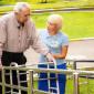 Прогулка жильцов пансионатадля пожилых «Забота» филиал Голицино