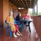 Веранда дома престарелых «Оберег» Лешино
