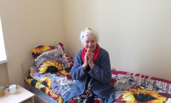 Жильцы Каменского пансионата для престарелых