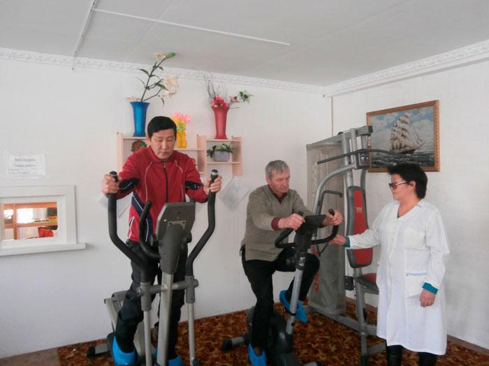 Тренажерный зал Курумканского дома-интерната для престарелых и инвалидов